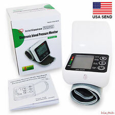 Digital Wrist Cuff Blood Pressure Monitor Heart Beat Rate Pulse Meter Ship USA