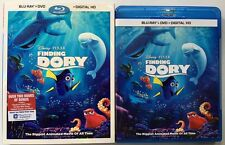 DISNEY PIXAR FINDING DORY BLU RAY DVD 3 DISC SET + SLIPCOVER SLEEVE FREE SHIPING