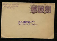 Straits  Settlements  153 (3)  on  cover  to  US             AT0705