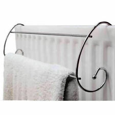 STYLISH CURVED CHROMED RADIATOR HANGING TOWEL RAIL HANDY TOLL FOR ALL WASHING