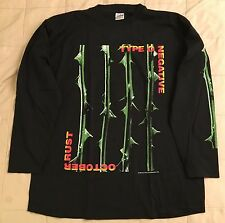Unworn 1996 Type O Negative T-Shirt L/XL October Rust Vtg peter steele carnivore