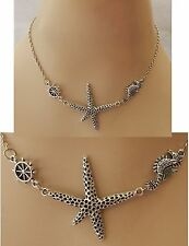 Silver Starfish Strand Necklace Jewelry Handmade NEW Chain Accessories Fashion