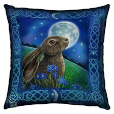 NEMESIS NOW MOON GAZING HARE CUSHION LISA PARKER UNUSUAL GIFT CELTIC PAGAN