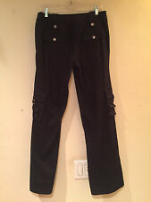JESSIE DELLA FEMINA BLACK JEANS NWOT Multi-Pockets Stretch Straight Leg Sz 8 Med