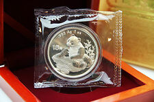 CHINA - 1 oz Silberpanda 1998 in der ORIGINALFOLIE inkl. BOX