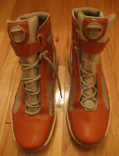 FILA FW03593-809 MEN'S ORANGE LEATHER UPPER HIGH TOP FASHION SNEAKERS SIZE