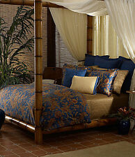NIP Ralph Lauren Indigo Blue Bali Terra Cotta King Duvet Cover Set 4pc