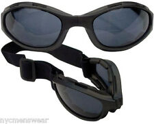 BLACK COLLAPSIBLE TACTICAL GOGGLES CE APPROVED