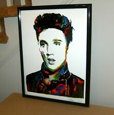 Elvis Presley: The King: Singer: Vocals: Guitar: Rockabilly, 18x24 POSTER w/COA2