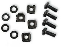"""Cage Nuts and Bolts for 19"""" Rack Mounts M6 Size Black  !!Pack of 50!!"""