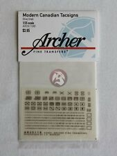 Archer Fine Transfers 1/35 Modern Canadian Tactical Signs (Olive Drab) AR35118D