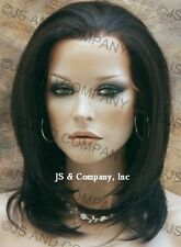 Iron OK French Lace Front Wig HEAT SAFE Dark Brown APA7 4