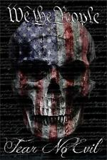 WE THE PEOPLE - FEAR NO EVIL - SKULL & FLAG - BENITO ART POSTER 24x36 - 2850