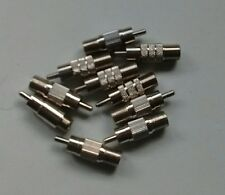 Lot of 10 RCA A/V (M) to Cable (F) Coax Adapter Connector Coupler RG59 RG6