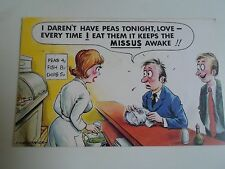 BAMFORTH Vintage Postcard No 287 MUSHY PEAS CHIP SHOP BREAKING WIND HUMOUR