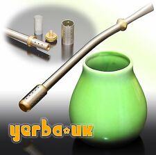 Yerba Mate ● Matero Calbaza + Bombilla TRIPLE FILTER - Roll In The Hole (B58)