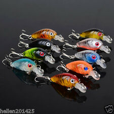 Lot 9pcs Fishing Lures Bass CrankBait Crank Bait Tackle Fish Hooks 4.5cm/4g