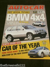 AUTOCAR - BMW 4x4 FIRST PICTURES - NOV 18 1998