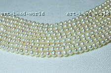 4-5mm white color near round nature freshwater pearl loose stone  beads necklace