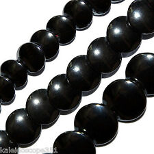 "AAA HEMATITE BEADS CIRCLE DISC 12MM DISCS 16"" STRS HS49"