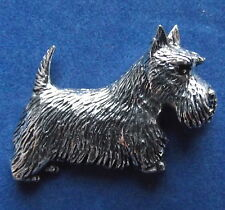 Pewter Scottie Scotty Dog Brooch Pin  Signed