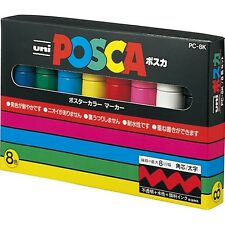 UNI PC8K8C POSCA 8 Color Markers Colors Marker Pen Paint 8mm