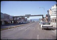 Vintage 1967 Slide Photo Downton AFTON Wyoming WY Stores Cars Antler Arch