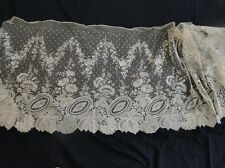 ANTIQUE LACE-LOVELY 19THC.BRUSSELS LACE FLOUNCE