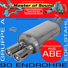 MASTER OF SOUND EDELSTAHL ENDSCHALLDÄMPFER VW GOLF 4 CABRIO 2.0L 16V 2.8L VR6