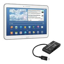 kwmobile 3 In 1 Micro Usb 2.0 Card Reader für Samsung Galaxy Tab 4 10.1 Adpater