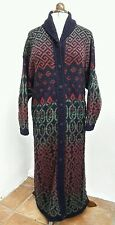 Lovely PAST TIMES Knitted Maxi CARDIGAN Long Coat Art Deco Celtic  L XL 14 16 18