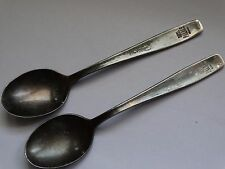 VINTAGE SPOONS WMF-INOX Pat.60 HOTEL PALACE BERLIN 2 pcs SILVER PLATED SPOONS