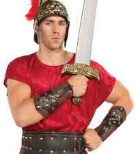 Roman Arm Guards Gladiator Warrior Fancy Dress Up Halloween Costume Accessory