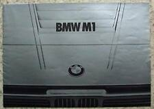 BMW M1 SPORTS CAR SALES BROCHURE c1980 ENGLISH TEXT