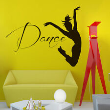 Wall Vinyl Decals Dancer Decal Home Dance Studio Decor Mural Sticker Z510