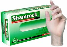 Shamrock Medical Grade Examination Glove, Powder-Free, Small, Clear, 100 count