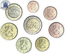 Finnland 3,88 Euro 2015 bfr. Kursmünzen 1 Cent bis 2 Euro lose im Münzstreifen