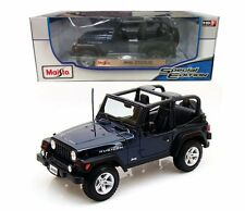 Maisto Jeep Wrangler Rubicon 1/18 Diecast Car Model Special Edition Blue