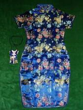 New Girls Blue Chinese/Oriental  Dress 6-7 Year with Purse
