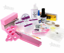 Professional Nail Builder UV Gel Acrylic Set Decorations Cleanser Plus Brush