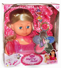 Styling Head  Style Hairdressing Doll Head Set With Accessories  New Girls
