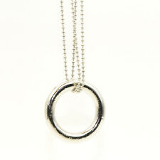 Magic Ring and Chain Cool Magic Trick Props Metal Knot Ring On Chain Easy To Do