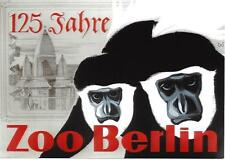 Original vintage poster ZOO BERLIN GERMANY MONKEYS 1969