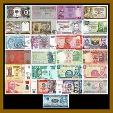 25 Pcs of Different World Mix (Mixed) Foreign Banknotes Currency Intermediat Lot