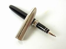 Authentic Louis Vuitton Doc Lacquer Silver-Tone Black Ball Point Pen B686
