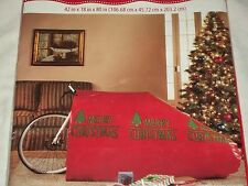 "Merry Christmas Red Giant Gift Bag Bike Big Birthday Sack Holiday 26"" Wheels"