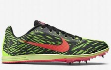 $100 NIKE Zoom Rival D 8 Track Field Running Shoes Spikes Green Black US 10.5