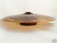 DAVIDSON 1930/40's 2 piece CLOUD GLASS POSY SET ( BOWL & FROG ) #204D - ART DECO