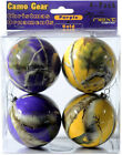 NEXT CAMO CHRISTMAS ORNAMENTS - PURPLE AND GOLD CAMOUFLAGE - HOLIDAY DECOR