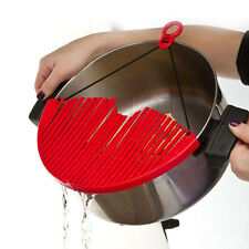 Wonder Strainer Sleeve Pot Pan Plastic Kitchen Tool  Draining Drain Water Pasta